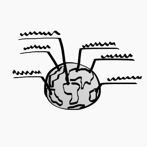 разные поставщики на карте мира